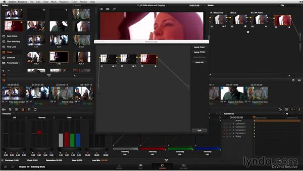 Gallery: Copying grades and nodes: DaVinci Resolve 11 Essential Training