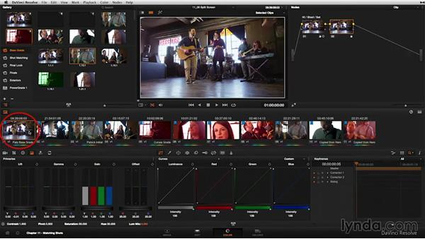 The split-screen view: DaVinci Resolve 11 Essential Training