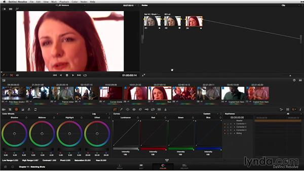Versions: Flipping between multiple color corrections: DaVinci Resolve 11 Essential Training