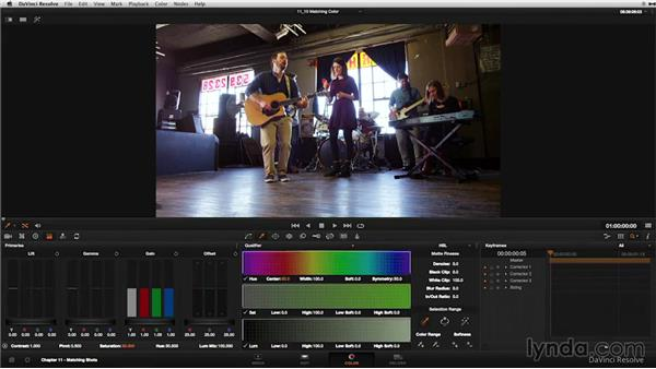 Matching color: DaVinci Resolve 11 Essential Training