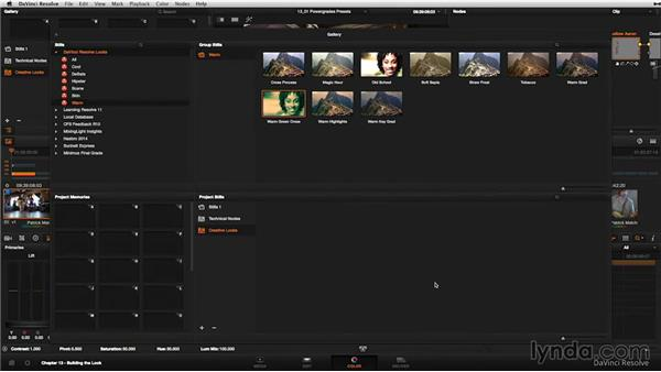 Powergrade presets: How to find and use them: DaVinci Resolve 11 Essential Training