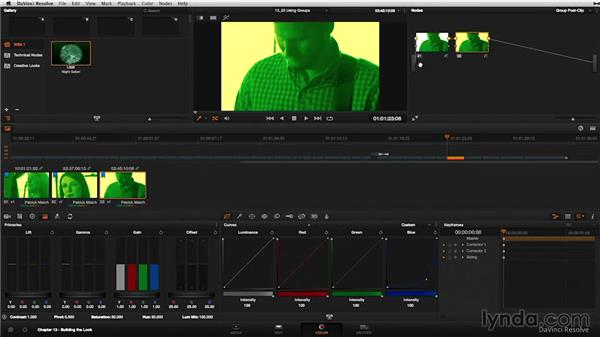Groups: A revamped and powerful grading option: DaVinci Resolve 11 Essential Training