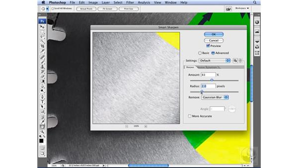 Advanced sharpening with Smart Filters: Photoshop CS3 for Designers