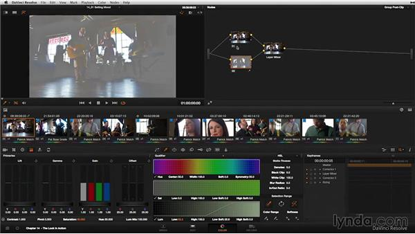 Hero shots: Grouping and setting three looks: DaVinci Resolve 11 Essential Training