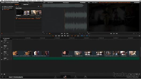 Final rendering and delivery: DaVinci Resolve 11 Essential Training