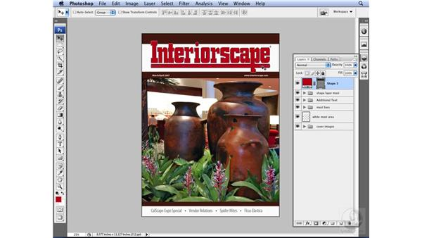 Importing vector artwork from Illustrator: Photoshop CS3 for Designers
