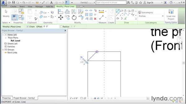 Creating a custom mullion: Building Curtain Walls with Revit