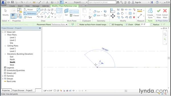 Creating a curved, pitched wall: Building Curtain Walls with Revit