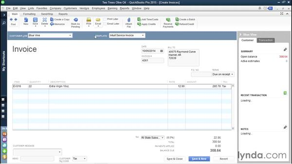 Viewing reminders for overdue invoices: QuickBooks Pro 2015 Essential Training
