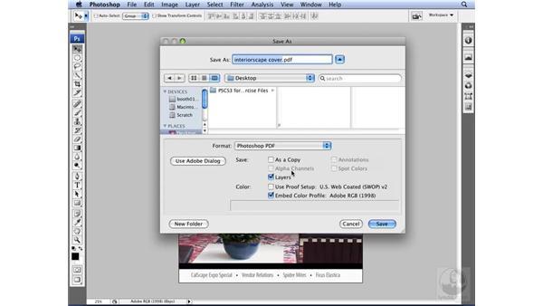 Saving Photoshop PDFs: Photoshop CS3 for Designers