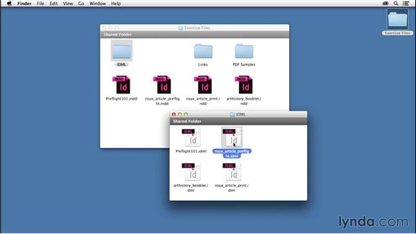 Using the exercise files: InDesign Insider Training: Preflight and Printing