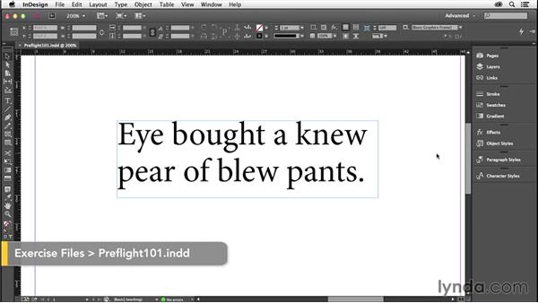 Prepping and preflighting: InDesign Insider Training: Preflight and Printing