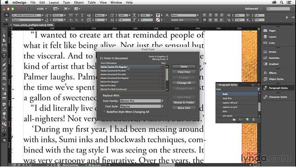 Fonts: InDesign Insider Training: Preflight and Printing