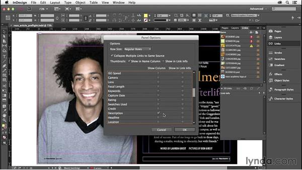 Linked images and files: InDesign Insider Training: Preflight and Printing