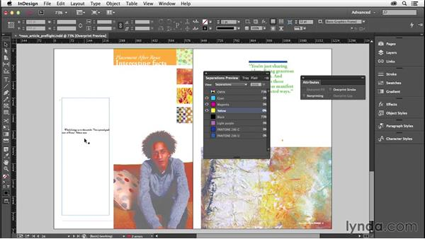 Previews, separations, and transparency: InDesign Insider Training: Preflight and Printing