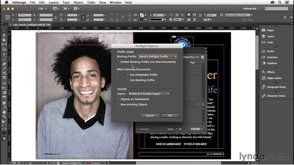 Managing preflight profiles: InDesign Insider Training: Preflight and Printing