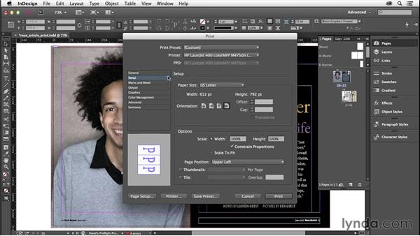 Putting the document page on the printed page: InDesign Insider Training: Preflight and Printing