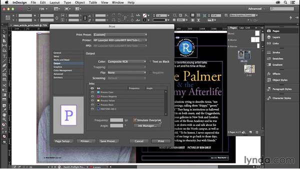 Controlling color: InDesign Insider Training: Preflight and Printing