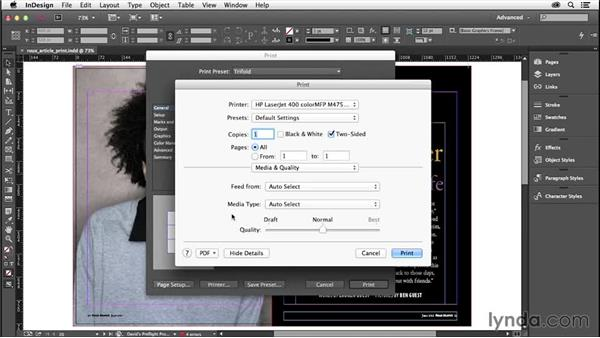 Saving and using print presets: InDesign Insider Training: Preflight and Printing