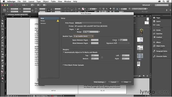 Print booklet: InDesign Insider Training: Preflight and Printing