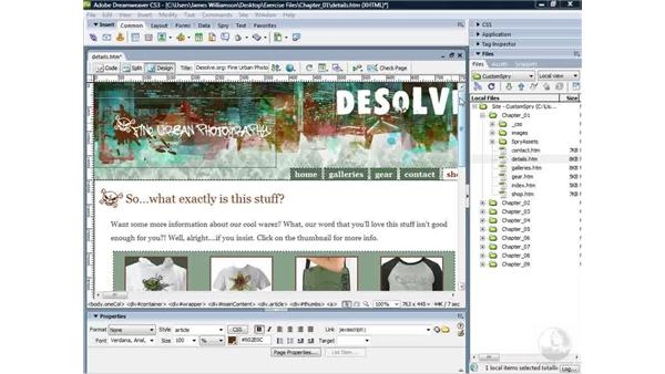 Examining Spry functionality : Dreamweaver CS3 Projects: Creating Custom Spry Widgets