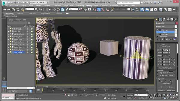 Working with the UVW gizmo: Mastering UVW Mapping in 3ds Max