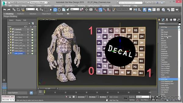 Using map channels: Mastering UVW Mapping in 3ds Max