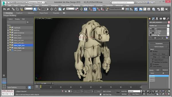 Using the XYZ to UVW option: Mastering UVW Mapping in 3ds Max