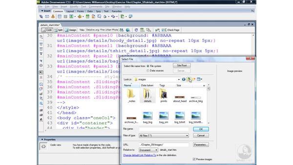Customizing the finished widget: Dreamweaver CS3 Projects: Creating Custom Spry Widgets