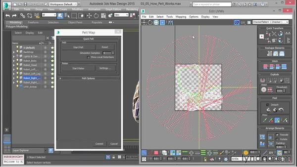 How pelt mapping works: Mastering UVW Mapping in 3ds Max