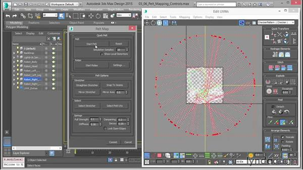 Using the pelt-mapping controls: Mastering UVW Mapping in 3ds Max