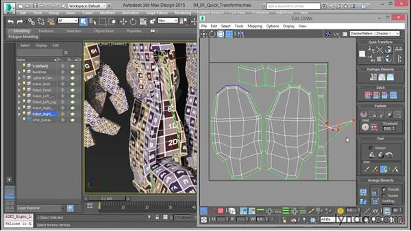 Quick transforms for UV layouts: Mastering UVW Mapping in 3ds Max