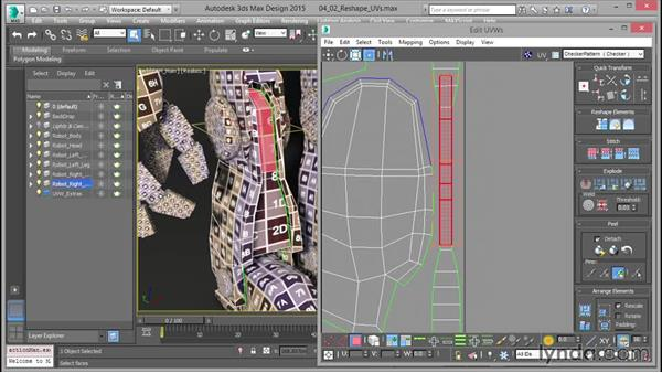 The Reshape Elements rollout: Mastering UVW Mapping in 3ds Max