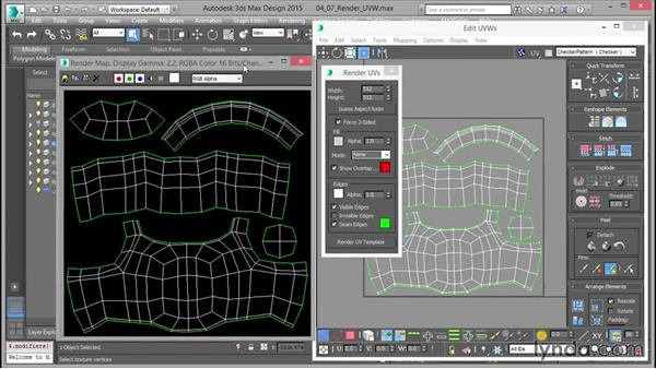 Rendering out a UV template: Mastering UVW Mapping in 3ds Max