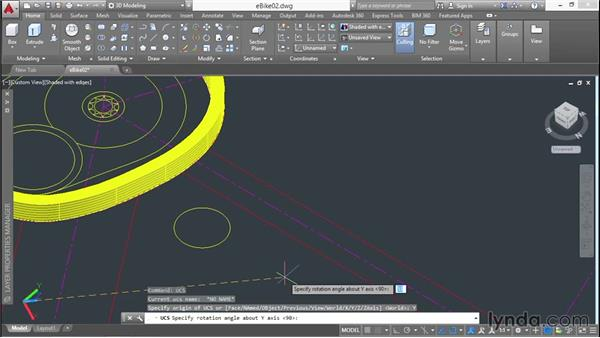 Manipulating the user coordinate system: 3D Surface Model Design with AutoCAD