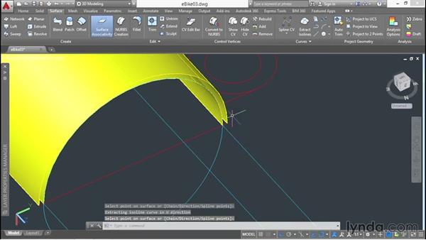Extracting isolines: 3D Surface Model Design with AutoCAD