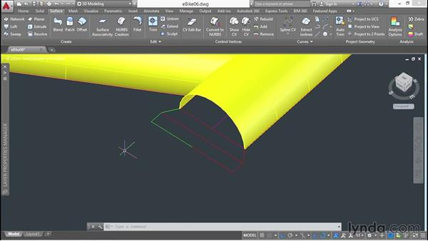 Revolving profiles: 3D Surface Model Design with AutoCAD
