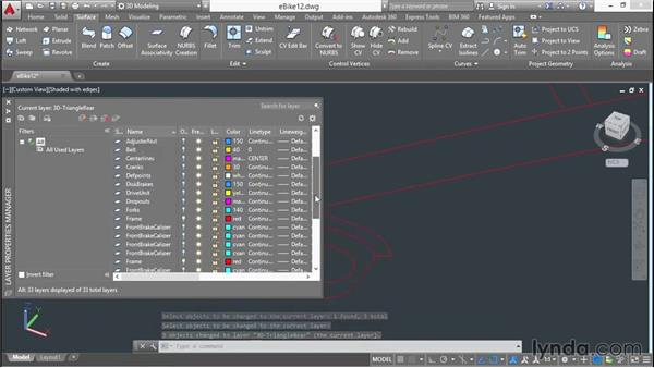 Adjusting a lofted object's 3D form: 3D Surface Model Design with AutoCAD