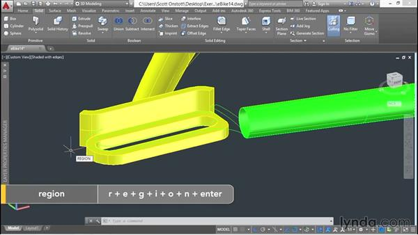 Using Boolean operations on solid objects: 3D Surface Model Design with AutoCAD