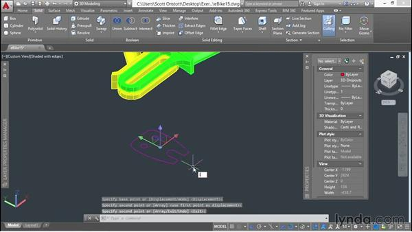 Extruding a region: 3D Surface Model Design with AutoCAD