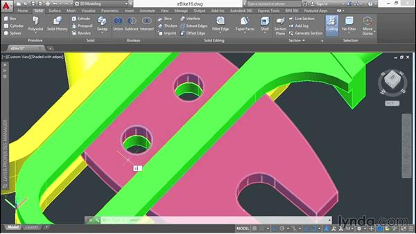 Modeling fasteners: 3D Surface Model Design with AutoCAD