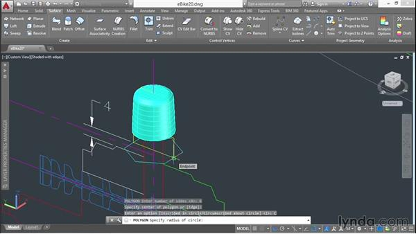 Combining surface and solid modeling: 3D Surface Model Design with AutoCAD