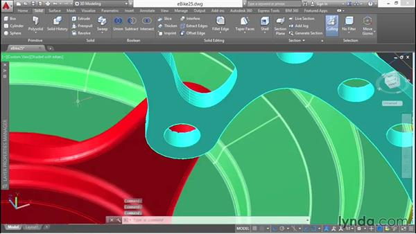 Using solid editing techniques: 3D Surface Model Design with AutoCAD
