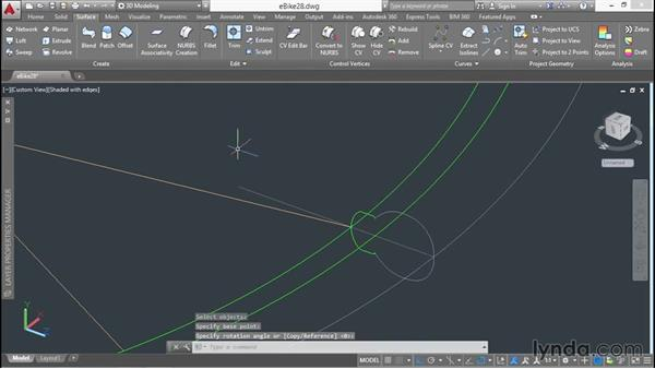 Revolving profiles and manipulating layers: 3D Surface Model Design with AutoCAD