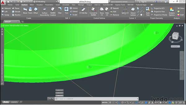 Sweeping and sculpting: 3D Surface Model Design with AutoCAD
