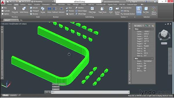 Tilting up extruded objects: 3D Surface Model Design with AutoCAD