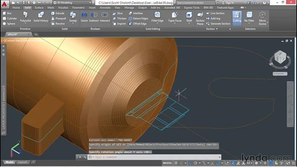 Revolving boundaries to create surfaces: 3D Surface Model Design with AutoCAD
