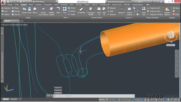 Lofting and revolving profiles, to model a complex form: 3D Surface Model Design with AutoCAD