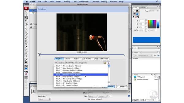 Using Flash video presets: Flash CS3 Interactive Video Techniques