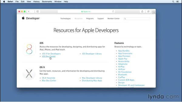 Becoming a Registered Apple Developer: iOS 8 App Development with Swift 1 Essential Training